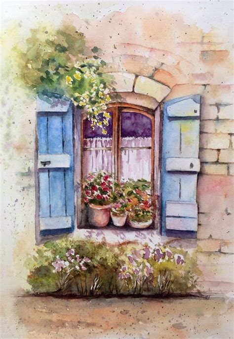 Fenster Bemalen Mit Wasserfarbe by Watercolors Paper And Windows On