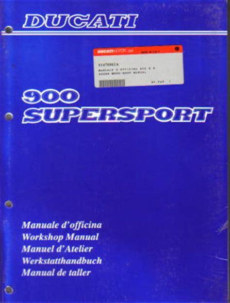 1990 Ducati 900ss Supersport Service Manual