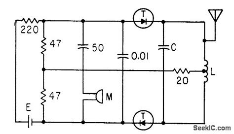 tunnel diode lifier circuit tunnel diode wireless mike signal processing circuit diagram seekic