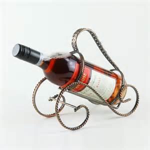 single wine bottle stand metal holder rack dinning kitchen
