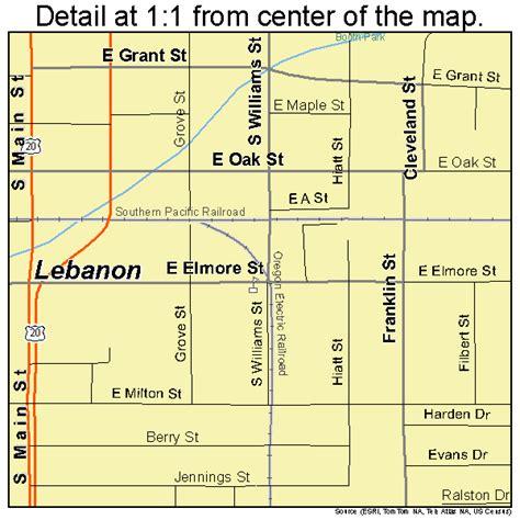 map of oregon lebanon lebanon oregon map 4141650