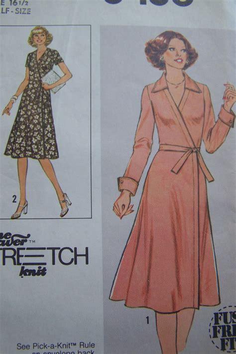wrap dress pattern uk 1970s uncut vintage knit front wrap dress sewing pattern