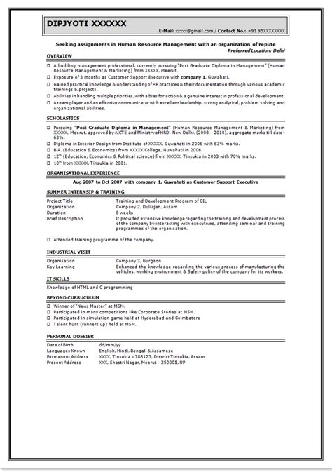 how to make cv resume for freshers 6 - How To Make Cv Resume For Freshers