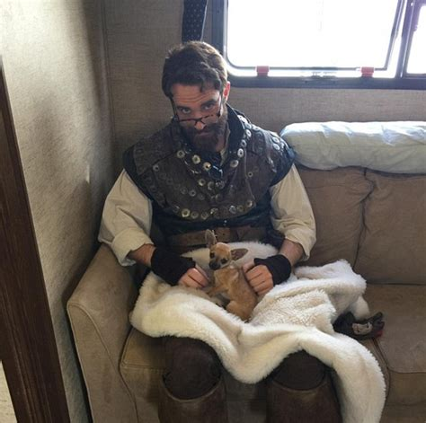 joshua sasse tattoos minogue gushes about new with galavant s