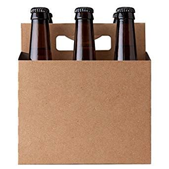 6 pack carrier template 6 pack kraft paperboard carrier