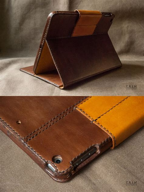 Handmade Leather Cases - air air 2 leather stand handmade by