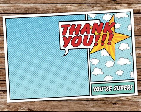 printable birthday cards superhero best 25 superhero thank you cards ideas on pinterest