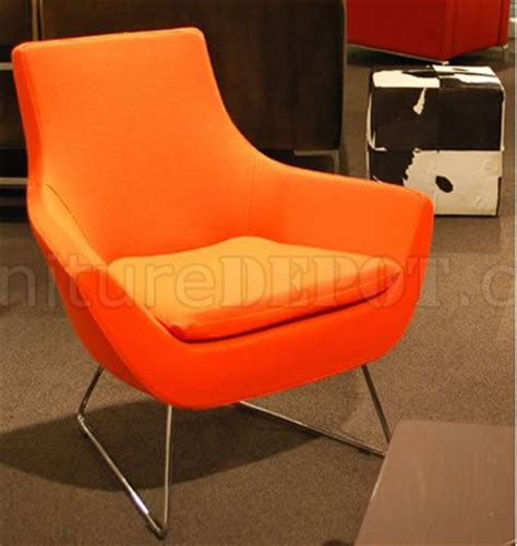 Orange Fabric Chair by Orange Wool Fabric Club Chair