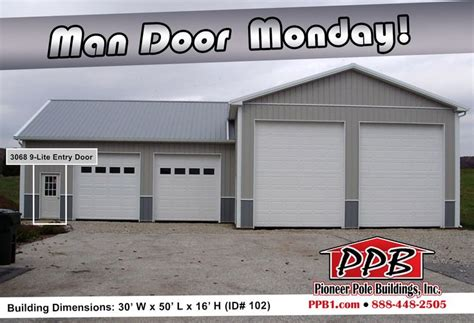 residential garage plans man door monday dimensions 30 w x 50 l x 16 h id