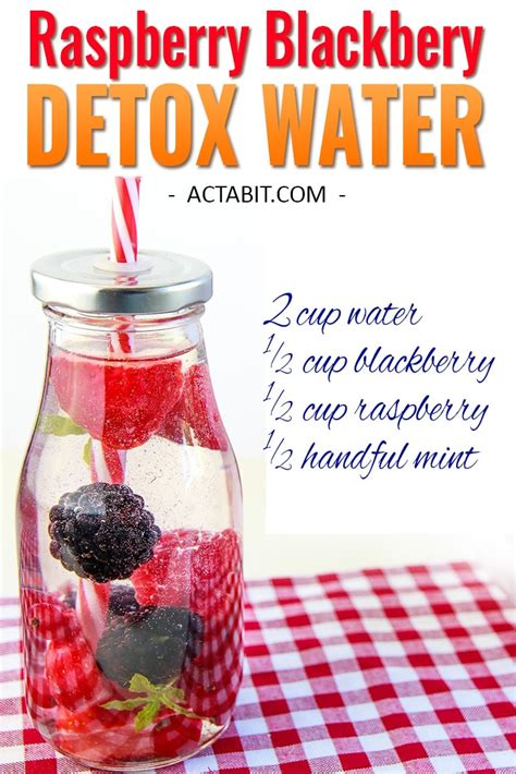 Blackberry Detox Water by 6 Detox Water Recipes For Weight Loss And Clear Skin