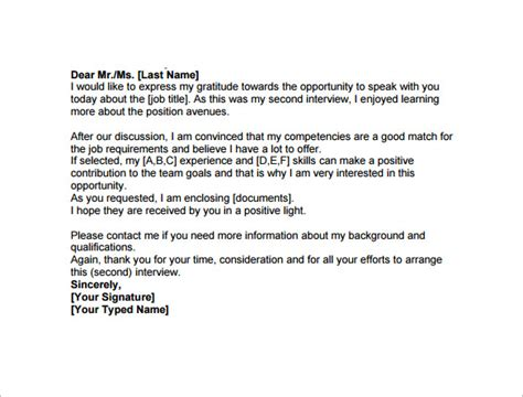 3 thank you letter after interview templates free sample example