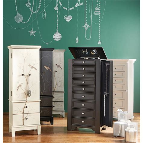 Home Decorators Jewelry Armoire by Home Decorators Collection Provence White Jewelry Armoire 0828700410 The Home Depot