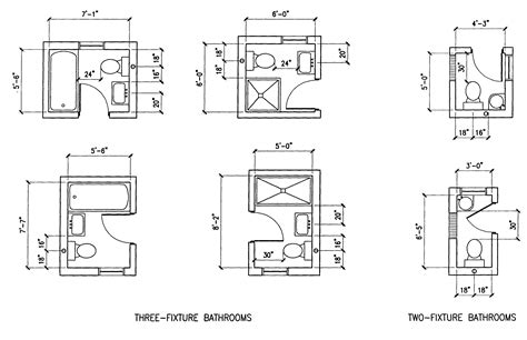 small bathroom size building guidelines drawings section f plumbing