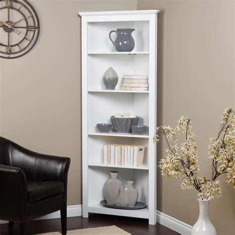Finley Home Redford Corner Bookcase White Bookcases At Redford Corner Bookcase