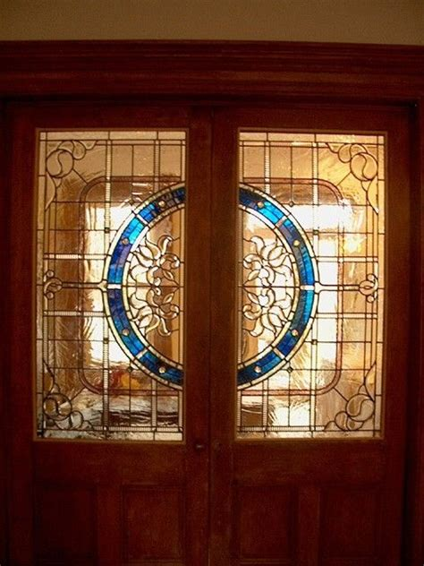 Custom Made Stained Glass Door Panels Residence By Custom Made Glass Doors