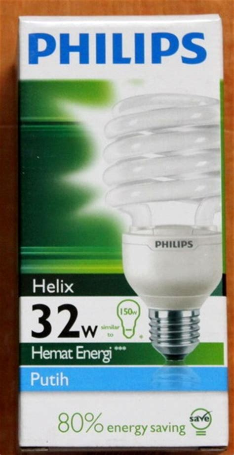 jual lu philips helix 32w putih day light e27 lu