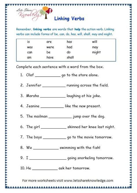 grade 3 grammar topic 14 helping verbs worksheets lets