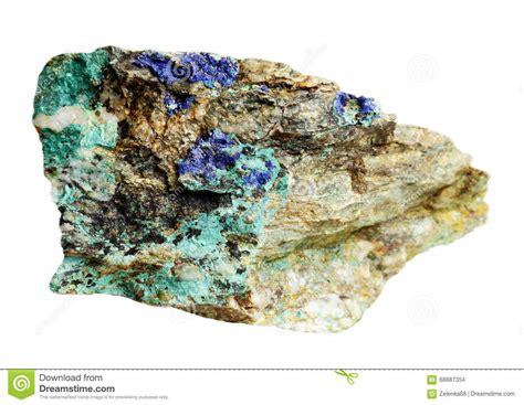 Mineral L by Copper Minerals Lazurite Azurite Malachite Stock Photo