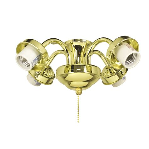 Shop Harbor Breeze 4 Light Bright Brass Incandescent Ceiling Fans With Bright Lights