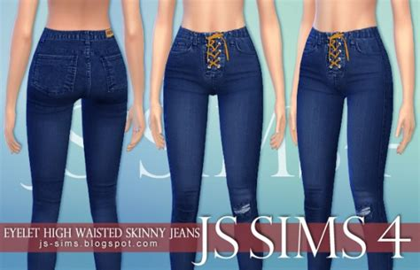 sims 4 high waisted jeans js sims 4 eyelet high waisted skinny jeans sims 4 downloads