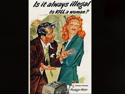 outdated advertising sexist creepy and just plain tasteless ads from a pre pc era books pitney bowes postage meter 13 stunningly sexist ads from