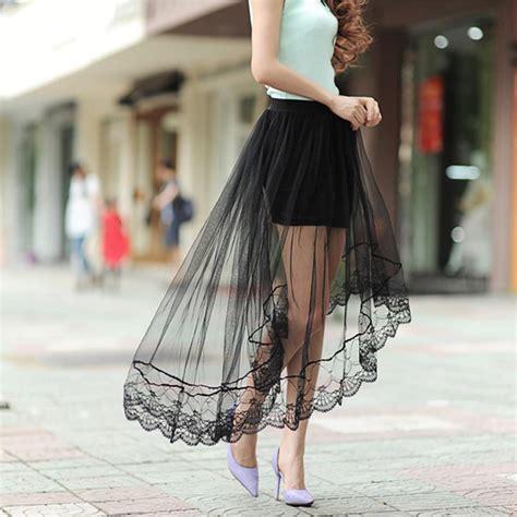 tulle skirt 2017 fashion summer chiffon lace