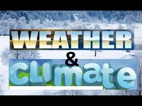 weather vs climate kindergarten preschoolers science