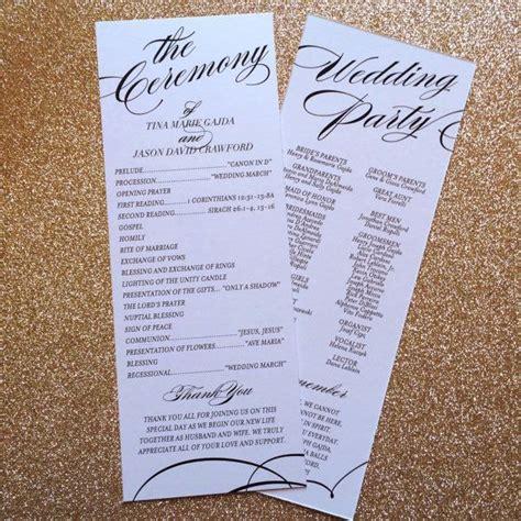 Ideas For Church Program - 25 best ideas about catholic wedding programs on