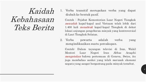 format berita lelayu bahasa indonesia presentasi teks berita