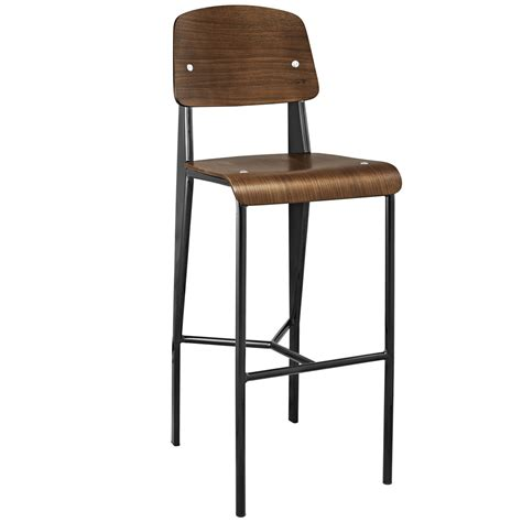 metal frame bar stools cabin contemporary bentwood back bar stool with metal