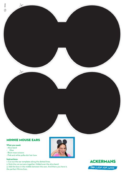 template for minnie mouse ears top minnie mouse templates free to in pdf format