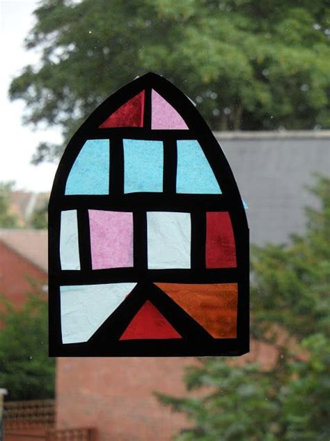 Tissue Paper Stained Glass Craft - tissue paper stained glass window craft with ruth