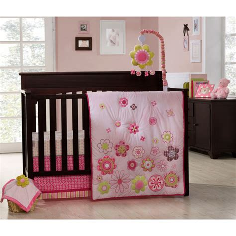Graco Crib Bedding 4 Piece Set Daisy Chain Walmart Com Walmart Baby Bedding Sets