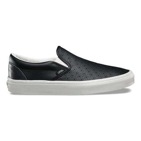 leather perf classic slip on shoes vans official store