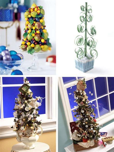 beautiful tabletop christmas trees digsdigs
