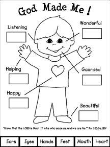 preschool creation coloring sheets god made me book