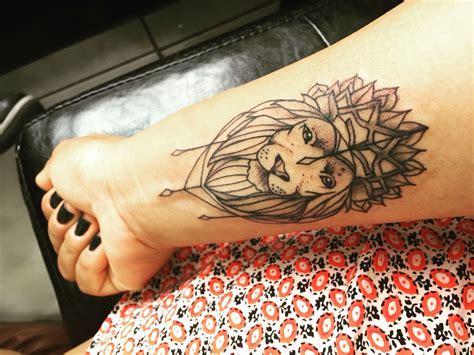 leo tattoos on wrist finally my ink lioness goddess wrist