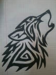 tribal wolf tattoo drawing by ladyvlaew on deviantart