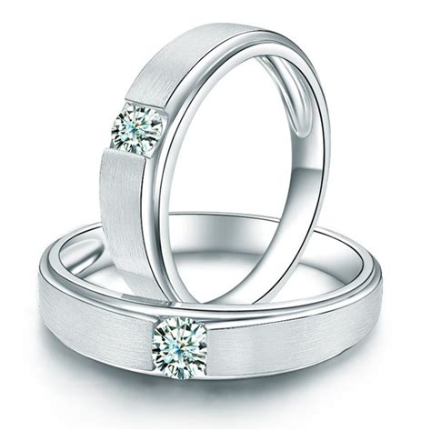 charming his and hers anniversary gift rings 0 20 carat
