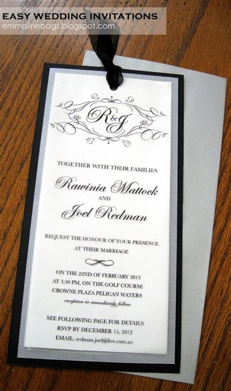 Emmaline Bags & Patterns: DIY Wedding Invitations! I made