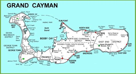 map of cayman islands large detailed grand cayman map