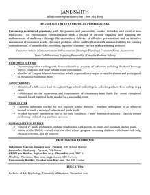 resume sles professional sales professional new graduate resume