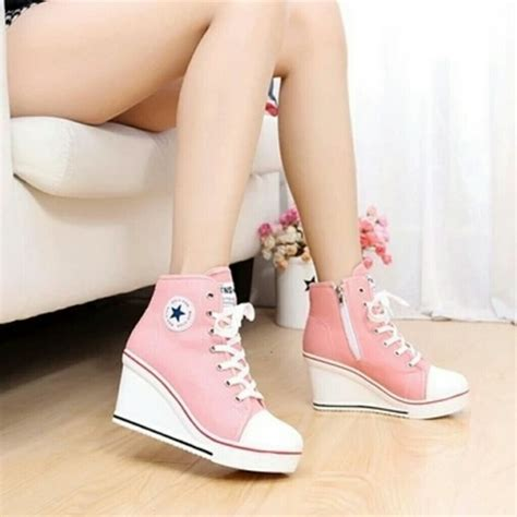 Elsp01 Sale Sepatu High Heels Sendal Sandal Wedges Boots Kets 34 converse shoes wedge high heels sneakers