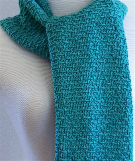 knit in knit scarf pattern in demand cottageartcreations