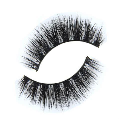 Eyelashes Real Hair 1 1 pair black 100 real mink hair thick eye