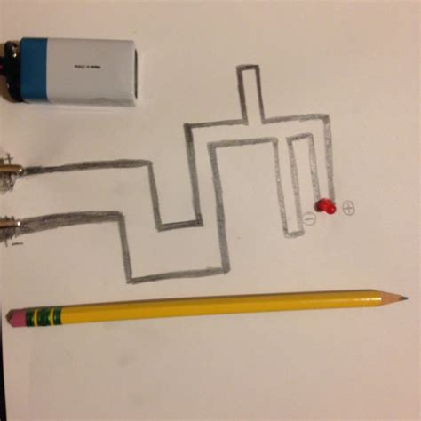 simple electric circuit materials can you use a no 2 pencil to draw an electrical circuit