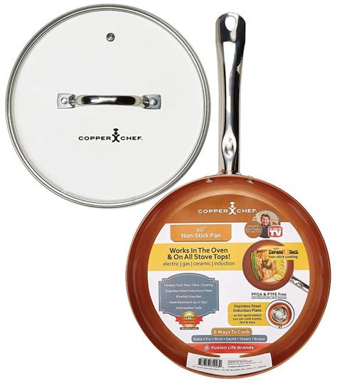 amazon skillet amazon copper chef round pan with glass lid 10 for 19 99