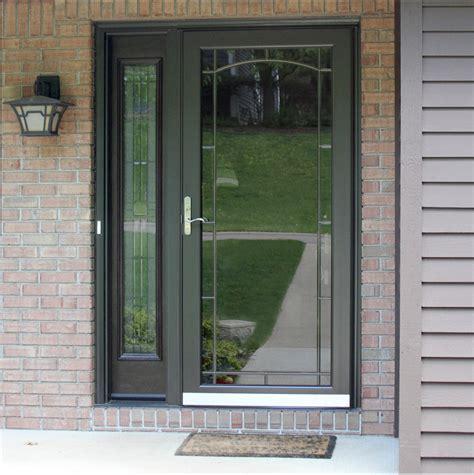 panel storm door custom aluminum storm doors screen