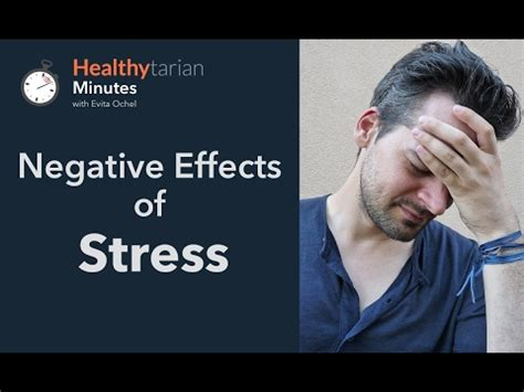 8 Negative Effects Of Exercise by Negative Effects Of Stress Healthytarian Minutes Ep 2