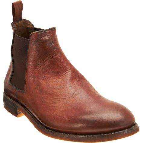 ralph boots ralph godstl chelsea boot in brown for lyst